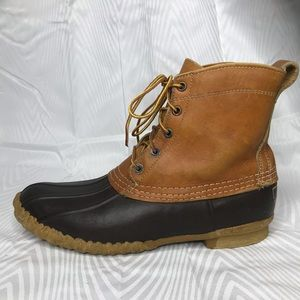 L.L. Bean Brown Vintage Duck Boots Size 10